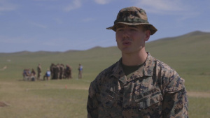 *B-Roll* Marine Corps platoon sergeant discusses training at Khaan Quest 2019