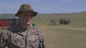 *B-Roll* Marine Corps fire team leader discusses his experience during Khaan Quest 2019