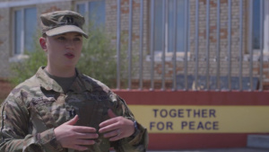 *B-Roll* U.S. Army officer discusses importance of female participation in Khaan Quest 2019
