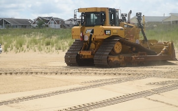 Norfolk District dredge readying to move sand