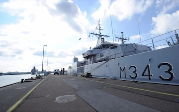Naval Ships Return to Naval Base Kiel-Tirpitzhafen