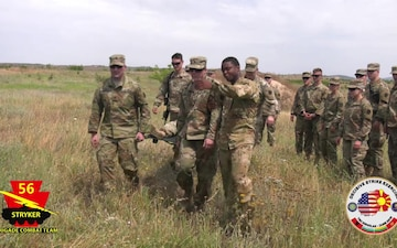 Medical platoon Conducts Casualty Evacuation Training
