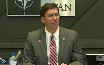 Esper Meets With Defeat-ISIS Coalition Defense Ministers