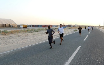 U.S. Service Members Participate in Rainbow 5K Run at Camp Arifjan