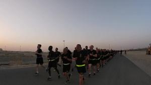 77th Sustainment Brigade and 300th Sustainment Brigade Botivation Run (B-Roll)