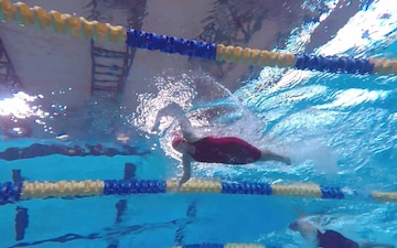Wounded Warriors Compete in Swimming