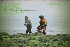 Coast Guard aircrew, good Samaritan boat crew medevac injured vessel captain northeast of Biorka Island, Alaska