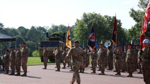 1st Theater Sustainment Command Change Of Command ceremony