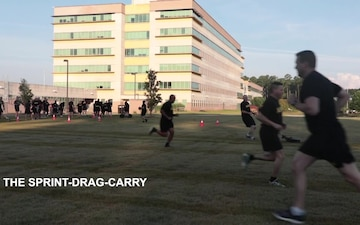 Army Materiel Command Headquarters Tries the Army Combat Fitness Test