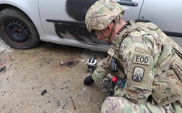 KFOR Soldiers conduct Vehicle-Borne EID Training with Kosovo Police BROLL