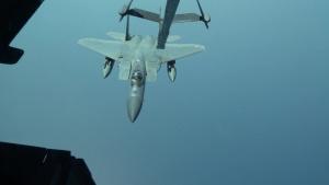 U.S. Air Force KC-10 Extender Refuels F-15C Eagles