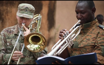 D.C. National Guard's 257th Army Band build's relationships through music in Burkina Faso