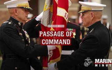 Marine Minute: Passage of Command