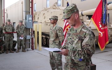 B-Roll: 1st Armored Division Soldier receives Bronze Star Medal (2 of 3)