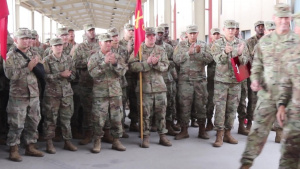 B-Roll: 1st Armored Division Soldier receives Bronze Star Medal (3 of 3)