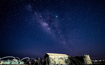 Milky Way Time-lapse at Nigerien Air Base 201