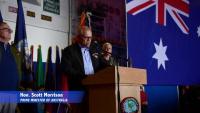 USS Ronald Reagan (CVN 76) Hosts Prime Minister of Australia