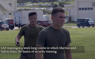 Marines and Sailors complete Oleoresin capsicum spray evolution as part of SAF training