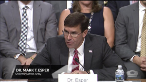 Defense Secretary Nominee Testifies at Confirmation Hearing