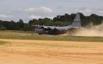 C-130 Hercules Landing at Young Air Assault Strip at Fort McCoy