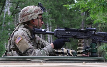 Headquarters Support Company Spartans Conducts a Dry Fire