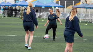 Comfort Women's Soccer Team Takes on Peruvian Team