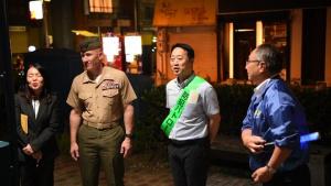 MCAS Iwakuni, Iwakuni city leadership conduct Joint Leadership Walk (B-Roll)