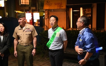 MCAS Iwakuni, Iwakuni City Leadership Conduct Joint Leadership Walk (B-Roll)