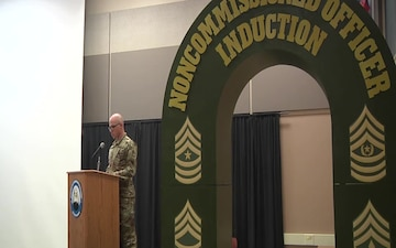 Soldiers Participate In an NCO Induction Ceremony at Fort McCoy