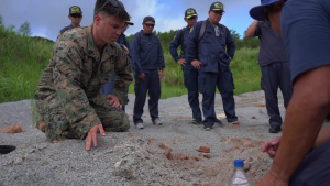 Okinawa Prefectural Police and Marines participate in post-blast analysis training