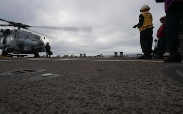 USS McCampbell Flight Operations During TS19