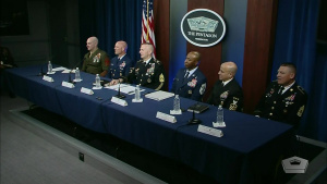 Top Enlisted Leaders Meet With Reporters at Pentagon
