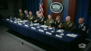 Senior Enlisted Leaders Answer Questions From Reporters