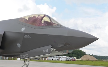 F-35A Lightning II fighter jets land in Latvia