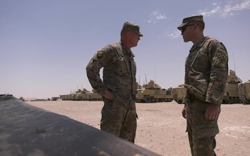 Task Force Spartan Deputy Commanding General ensures troop equipment readiness.