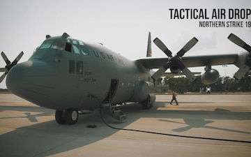 C-130 tactical air drop mission at Northern Strike 19