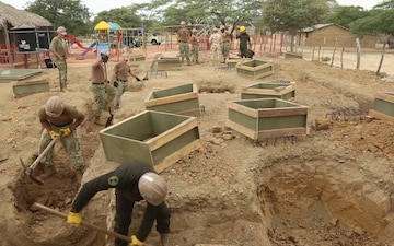 Seabees Begin Construction of New School for Indigenous Colombian Wayuu Tribe