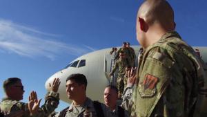 421st Fighter Squadron Return B-Roll