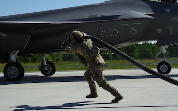 Operation Rapid Forge culminated with F-35s and F-15s refueling in Estonia