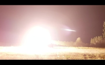 HIMARS Night Live Fire at Exercise Northern Strike 19 Slow Motion