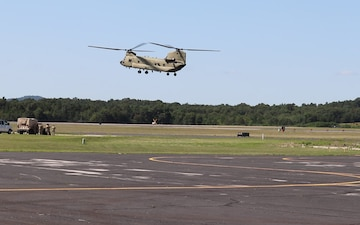 CH-47 Chinook Landing at Sparta-Fort McCoy Airport