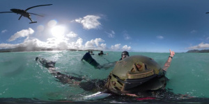 25th Infantry Division Soldiers Conduct SPIE Training off the Coast of Hawaii (360 video)