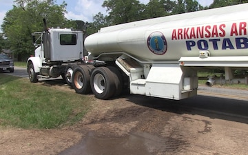 Arkansas National Guardsmen Provide Water to City of Carthage, Arkansas