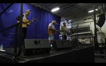 Jimmy Buffett Visits USS Kearsarge