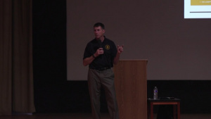 CSM Thetford Briefs Cannon AFB Air Commandos about his Time in the US Army Special Forces