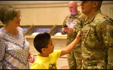District of Columbia National Guardsmen Delays His Promotion for a Special Occasion