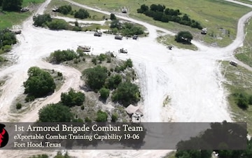 Aerial View of 1st ABCT Training Area at XCTC 19-06