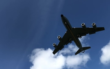 168th Wing KC-135 On Final Slow Motion