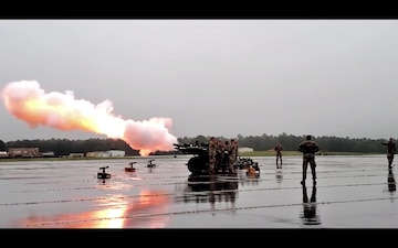 M119A3 Howitzers Fire Prior to Arkansas Adjutant General Change of Command