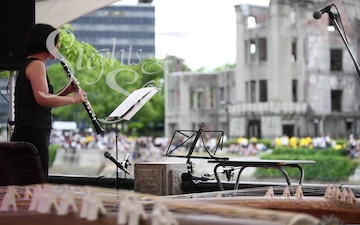 Hiroshima Peace Memorial Ceremony & Peace Message Lantern Floating Ceremony Sights and Sounds